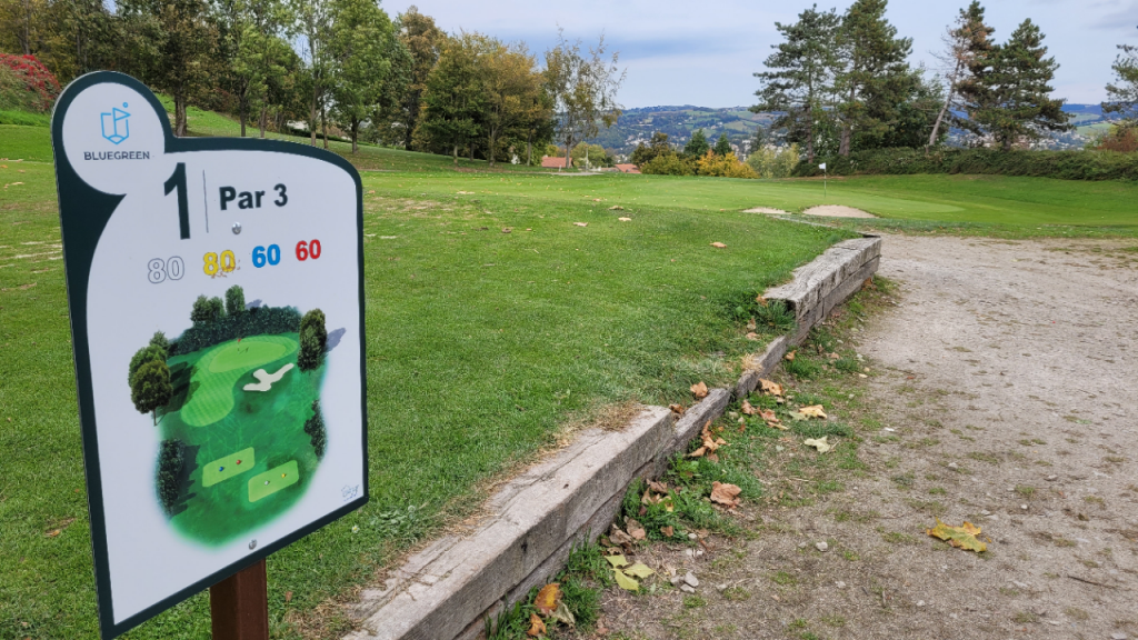 The small Saint-Etienne golf course runs from six to nine holes